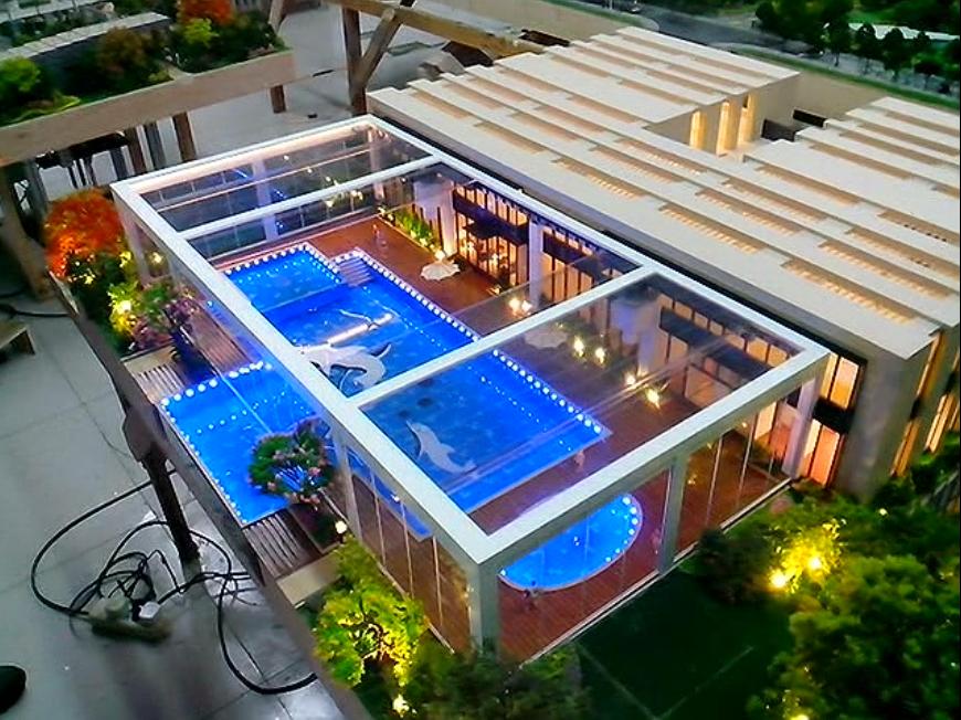 动态泳池天窗
